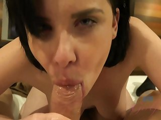 Katie St Ives sucks and fucks till you cum