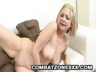 Lya Pink - Blonde Mom Who Loves Black Cocks Fucking Her